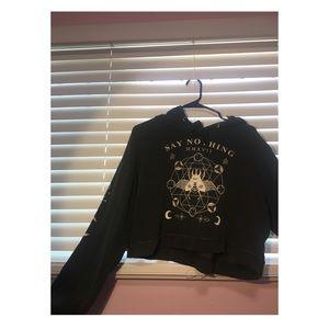 Black croptop hoodie